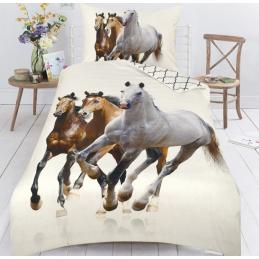 Bavlněné povlečení Koně