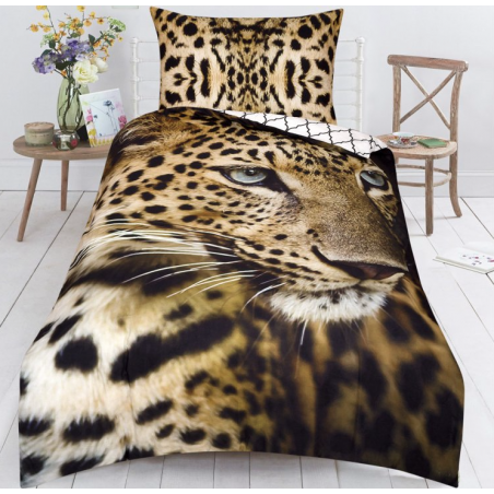 Bavlněné povlečení 3D Leopard