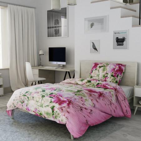 Bavlněné povlečení růžová lilie