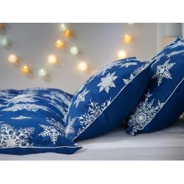 Vánoční povlečení modré vločky