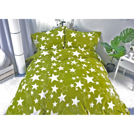 Mikroplyšové povlečení hvězdy Star zelené