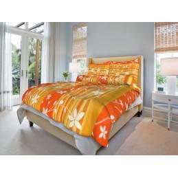 Bavlněné povlečení oranžové