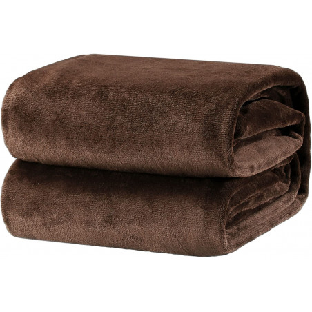 Hnědá deka z mikrovlákna 150x200cm