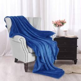 Modrá deka z mikrovlákna...