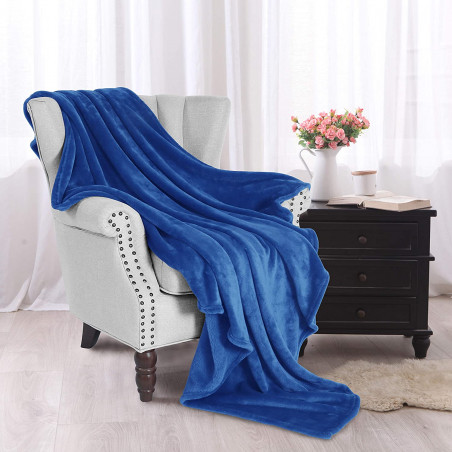 Modrá deka z mikrovlákna 150x200cm