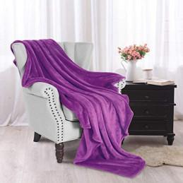 Tmavě fialová deka z...