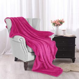 Růžová deka z mikrovlákna...