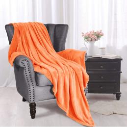 Oranžová deka z mikrovlákna...