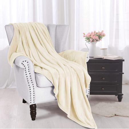 Béžová deka z mikrovlákna 150x200cm