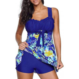 Plavkové šaty modré TROPICAL
