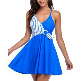Plavkové šaty ELEGANCE modré