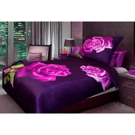 3D povlečení fialová růže