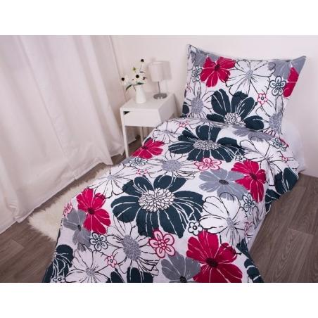 Povlečení z hladké bavlny růžový květ