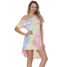 Batikované plážové šaty
