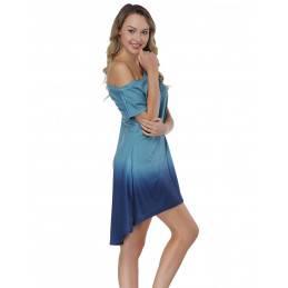 Batikované plážové šaty modré