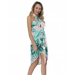 Letní šaty za krk bílé