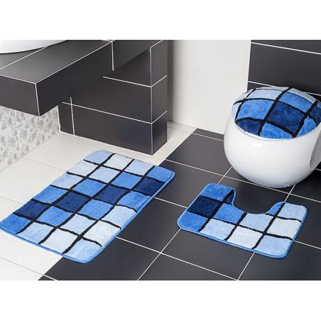 Koupelnová předložka modrá 3-dílná