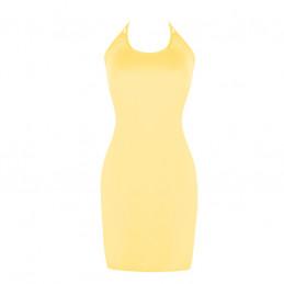 Letní šaty k moři žluté