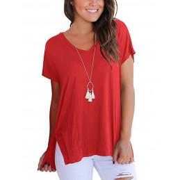 Bavlněné červené tričko s...