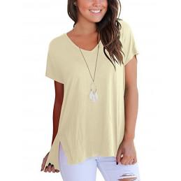 Bavlněné smetanové tričko s...