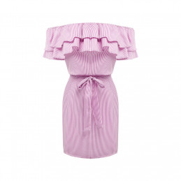 Lněné letní šaty růžové 06d70807e0