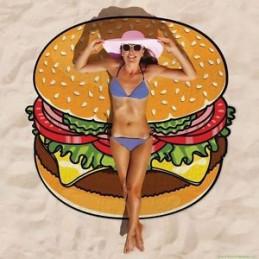 Kulatá plážová deka Hamburger