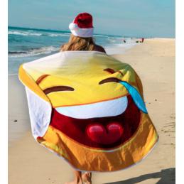 Kulatá plážová deka smajlík...