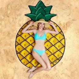 Kulatá plážová deka Ananas
