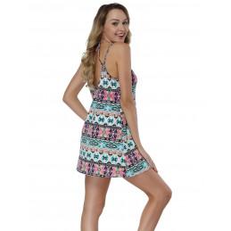 Barevné letní šaty s...