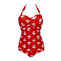 Zeštíhlující plavky červené...