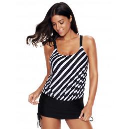 Plavkové šaty černo-bílé s...