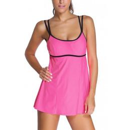 Plavkové šaty růžové