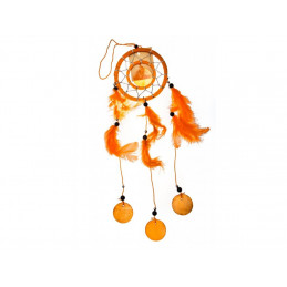 Lapač snů oranžový 35cm