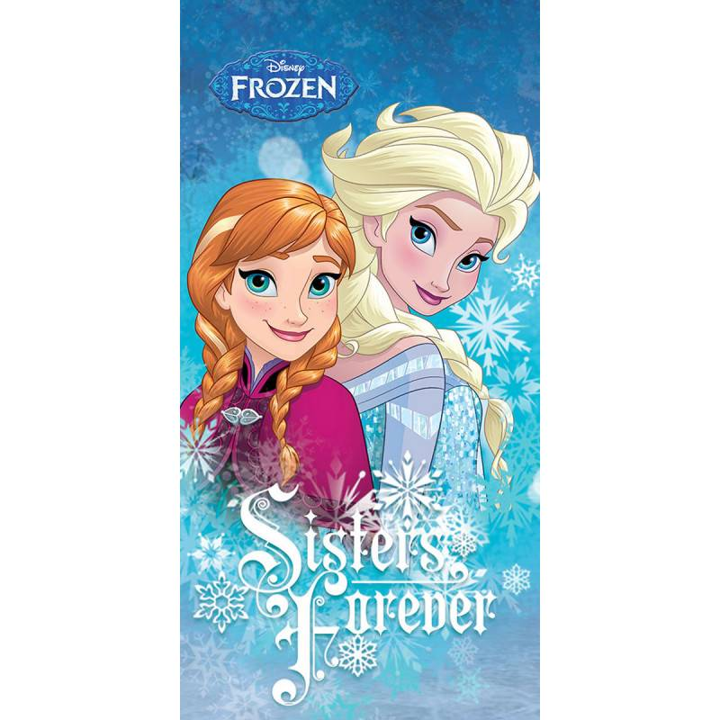 Dětská osuška Ledové království Anna a Elsa 70x140cm